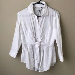 Anthropologie Button Up Top